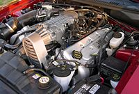 4.6 L 4-valve DOHC supercharged V8 installed in a 2003 and 2004 Ford Mustang SVT Cobra