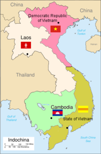Partition of French Indochina after the 1954 Geneva Conference