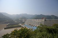 Sơn La Dam in northern Vietnam, the largest hydroelectric dam in Southeast Asia.