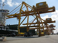 The port of Hai Phong is one of the largest and busiest container ports in Vietnam.