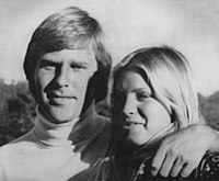 Ben Crenshaw with wife Polly after winning 1976 AT&T Pebble Beach Pro-Am