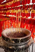 Cham Shan Temple burning incense