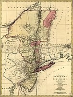 New York and neighboring provinces, by Claude Joseph Sauthier, 1777