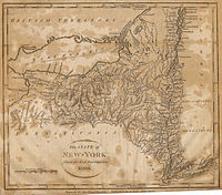 1800 map of New York from Low's Encyclopaedia