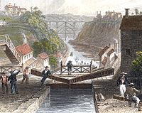 The Erie Canal at Lockport, New York in 1839