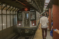 The New York City Subway is one of the world's busiest, serving a passenger ridership of over 5 million per average weekday.