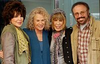 Bayer Sager with Carole King, Cynthia Weil, and Barry Mann in December 2012