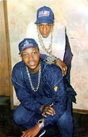 Jay-Z (top) with a friend in Trenton, New Jersey, c.undefined 1988