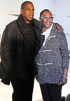 Jay-Z with his mother Gloria