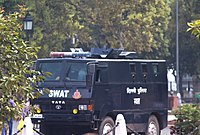 Delhi Police vehicle of Special Weapons And Tactics (SWAT)