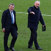 Bobby Tambling and Barry Bridges, two key players in the Chelsea side of the 1960s, pictured at Stamford Bridge in 2009