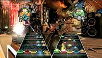 """In Guitar Hero IIIs two-player """"Battle Mode"""", each player attempts to interfere with their opponent's performance using special power-ups while avoiding being distracted by those thrown by the opponent."""