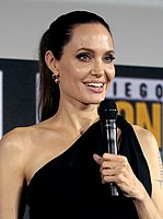 Jolie speaking at the 2019 San Diego Comic-Con