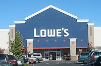 A typical Lowe's storefront in Santa Clara, California (Store #2211).