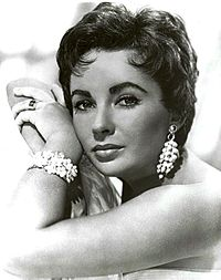 Taylor in a studio publicity photo in 1953