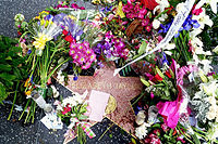 Taylor's star on the Hollywood Walk of Fame in the days following her death in 2011