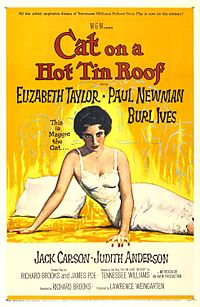 Promotional poster for Cat on a Hot Tin Roof (1958)