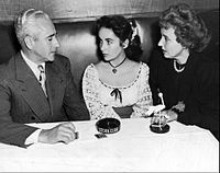 Fifteen-year-old Taylor with her parents at the Stork Club in Manhattan, 1947